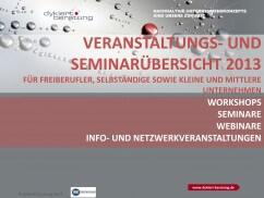 Seminar- und Veranstaltungsprogramm 2013 für kleine und mittlere Unternehmen