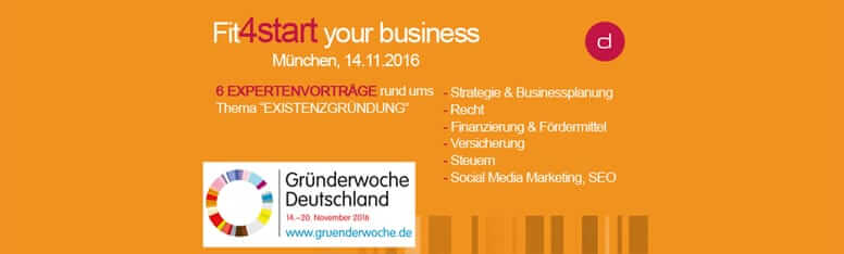 Gründerwoche 2016 – fit4start your business