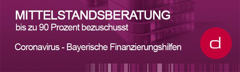 Coronavirus – Bayerische Finanzierungshilfen