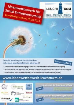 Leuchtturm – Ideenwettbewerb für Social Entrepreneure