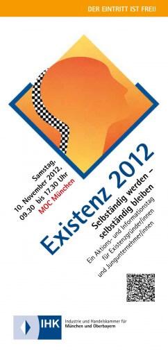 """IHK Gründermesse """"EXISTENZ 2012"""""""